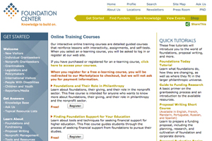 Foundation Center - Training Classes